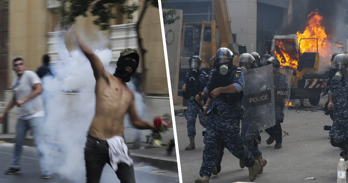 Beirut Protesters Tear-Gassed As Thousands Gather Following Port Explosion