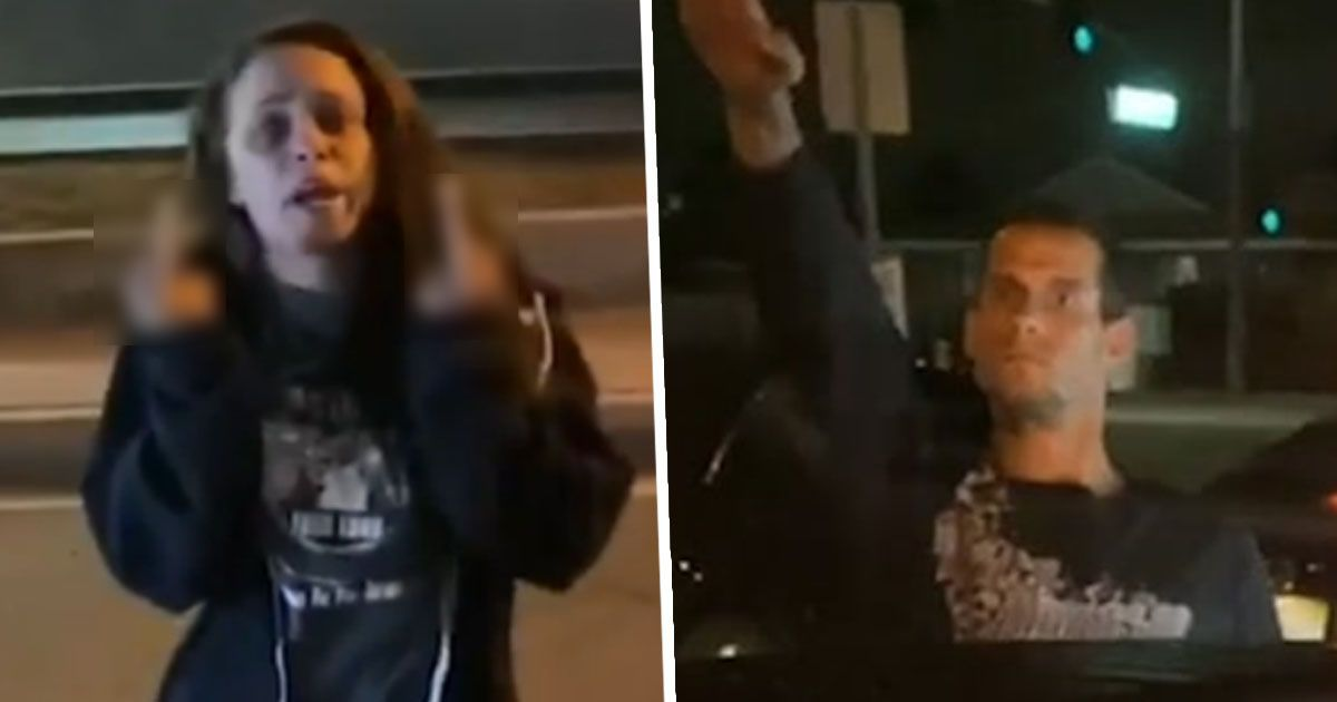 Road Rage Couple Arrested For Shouting 'Only White Lives Matter' And Making Nazi Salute