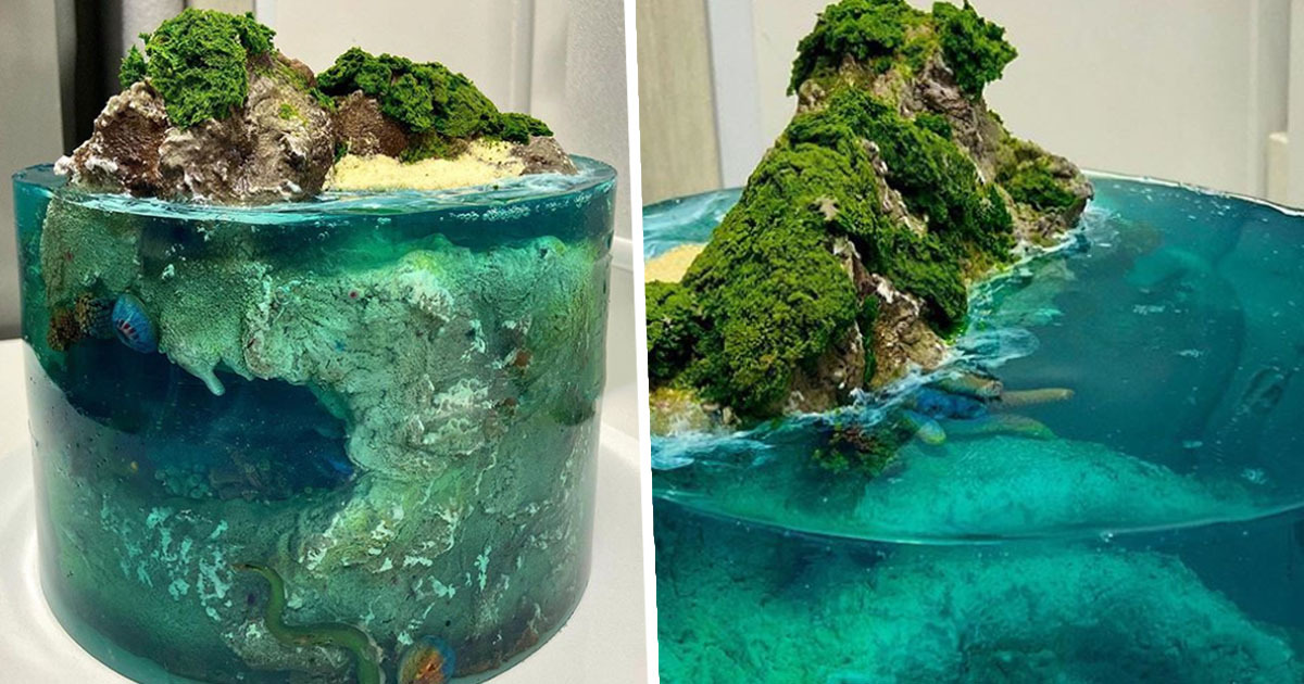 Jelly Cakes That Look Like Tropical Islands Are The Latest Dessert Trend
