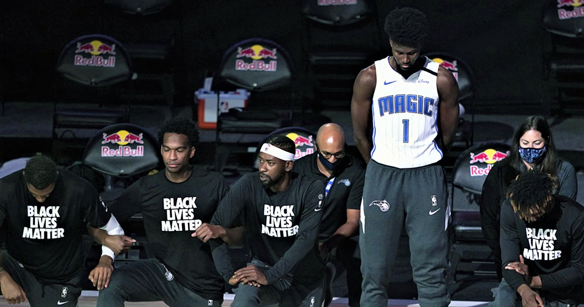 NBA's Jonathan Isaac Stands For National Anthem And Doesn't Wear Black Lives Matter Shirt
