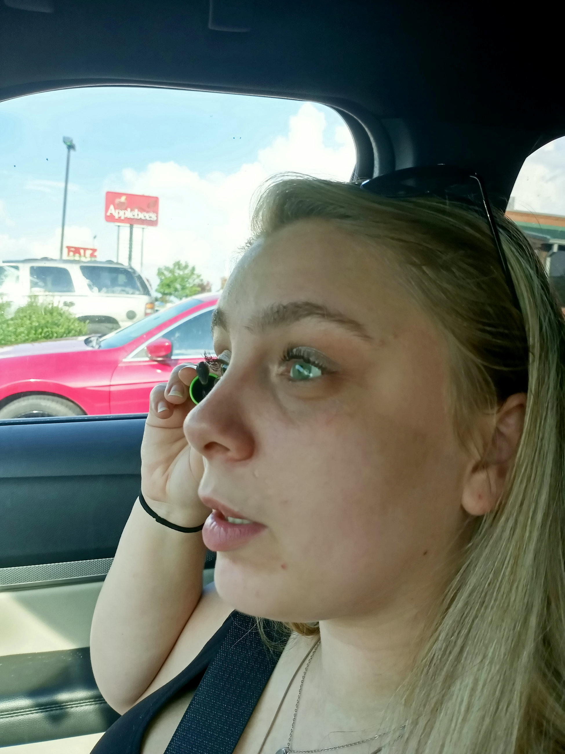 Kaylee Muthart pictured with her new prosthetic eyes.