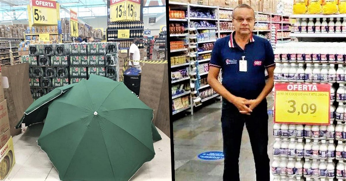 Supermarket Covers Dead Worker With Umbrellas For Four Hours So Shop Can Stay Open