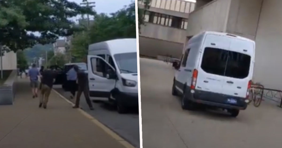 Black Lives Matter Protester Thrown In Unmarked Van By Armed Plainclothes Police