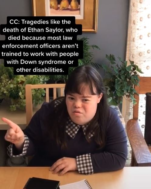 woman highlights discrimination faced by people with down syndrome