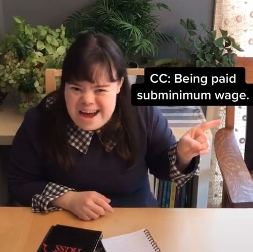 woman with down syndrome points out discrmination faced