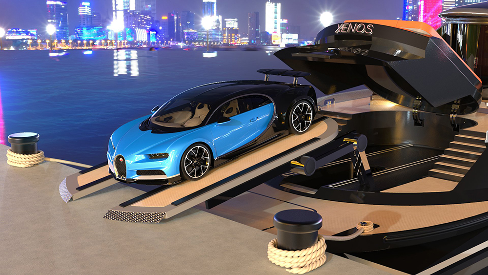 £25 Million Superyacht Comes With Its Own £2.3 Million Bugatti Supercar