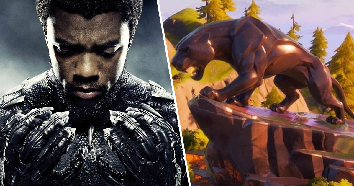 Fortnite Pays Tribute To Chadwick Boseman With Black Panther Statue