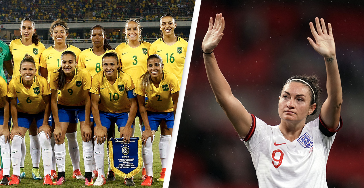 England And Brazil Announce Equal Pay For Men And Women's National Football Teams