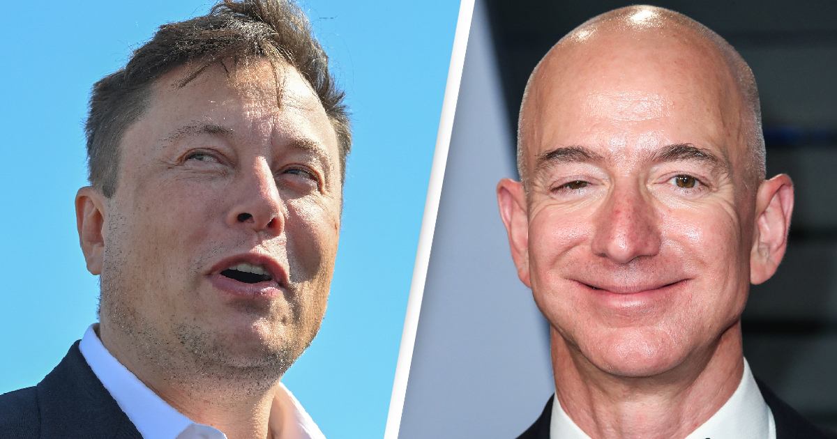 Jeff Bezos Elon Musk US Billionaires' Fortunes Have Increased $845 Billion Since March