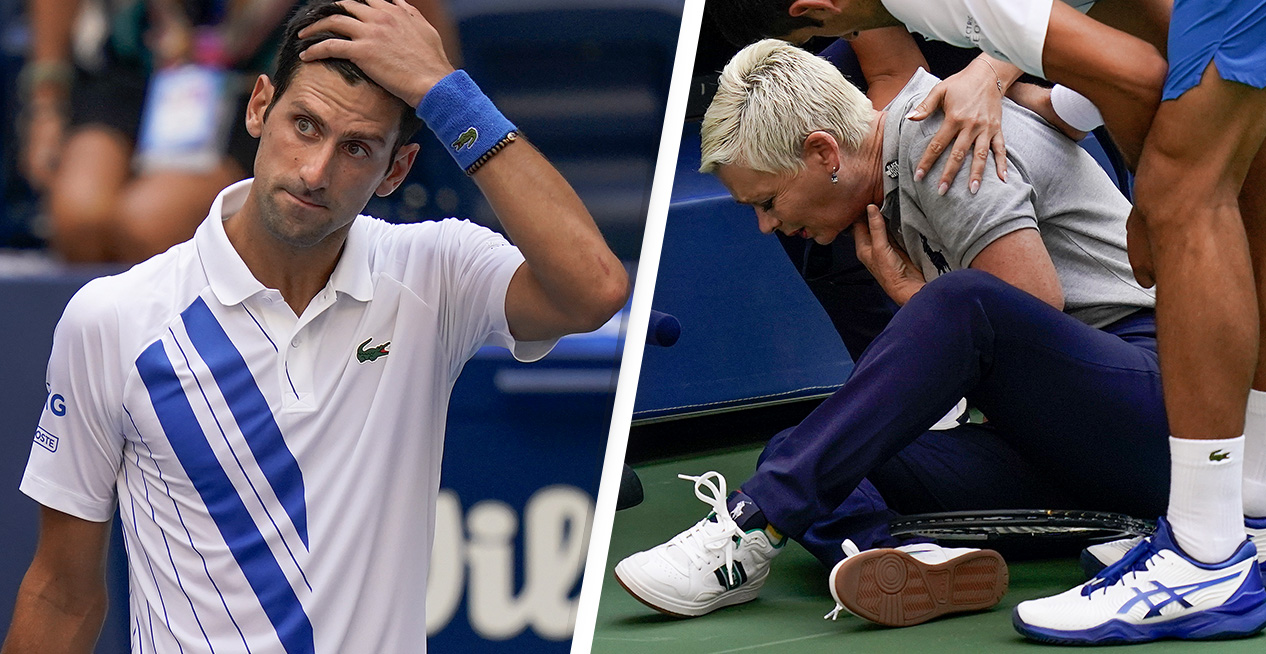 Novak Djokovic Disqualified From Us Open After Hitting Judge With Ball Unilad