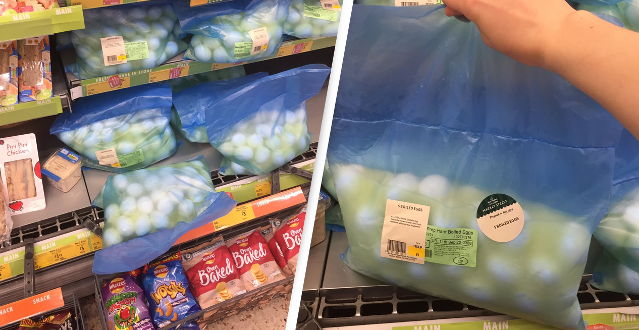 Sacks Of Wet Eggs Are Being Sold At Morrisons And Everyone Is Baffled