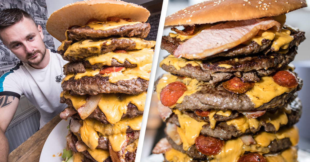Restaurant Giving Away 30,000 Calorie Burger For Free If You Can Eat In An Hour