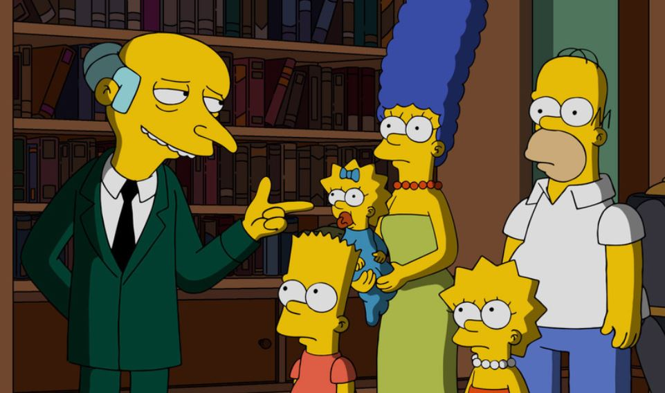 Mr. Burns in The Simpsons