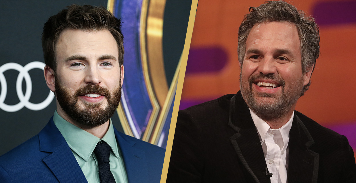Mark Ruffalo Pokes Fun At Chris Evans After He Accidentally Leaked His Own Nudes