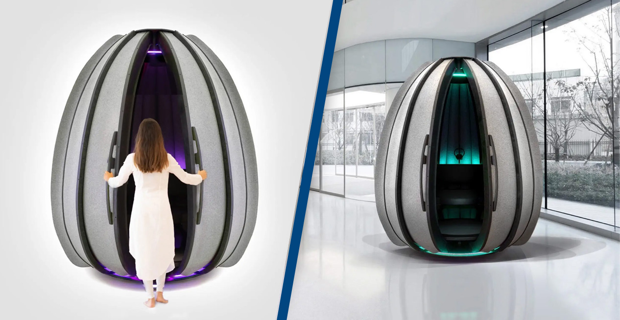 This $25,000 Egg-Shaped Meditation Pod Helps Humans 'Access Higher States'