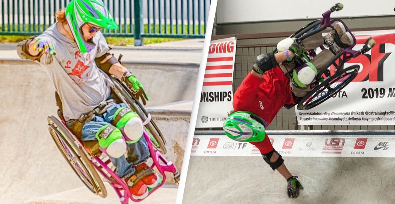 Man Who Broke His Back In Snowboarding Accident Becomes Extreme Wheelchair Skater