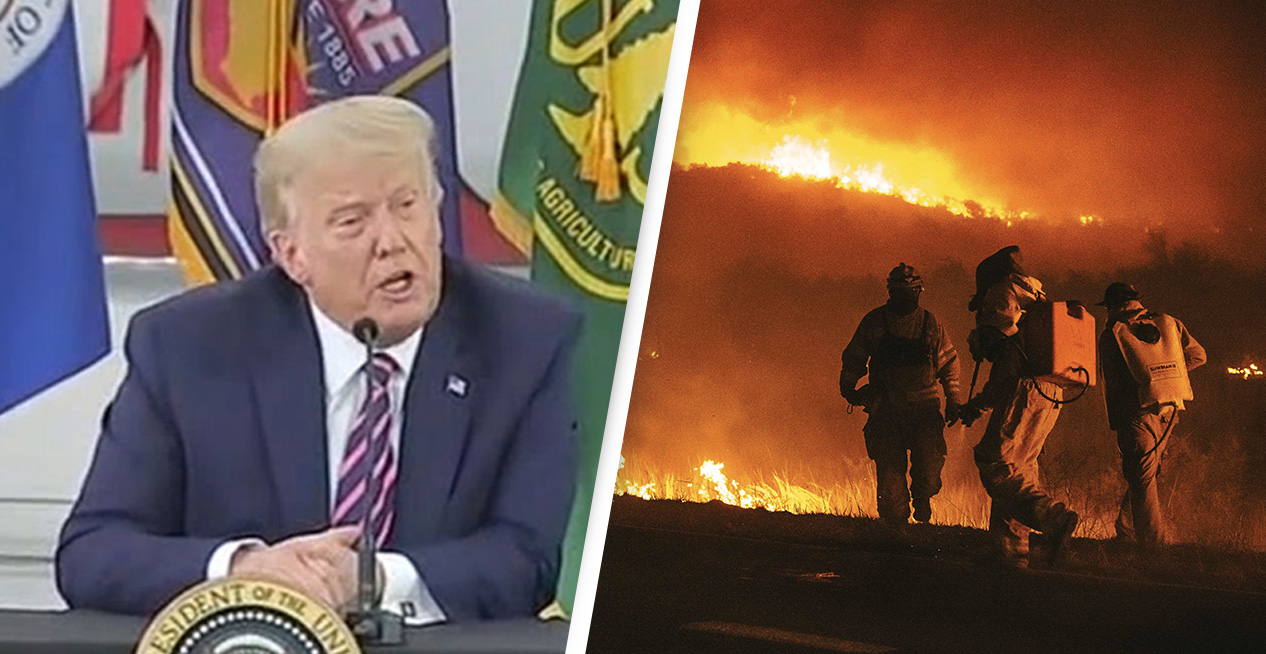 Trump Laughed Off Climate Change When Asked About California Wildfires