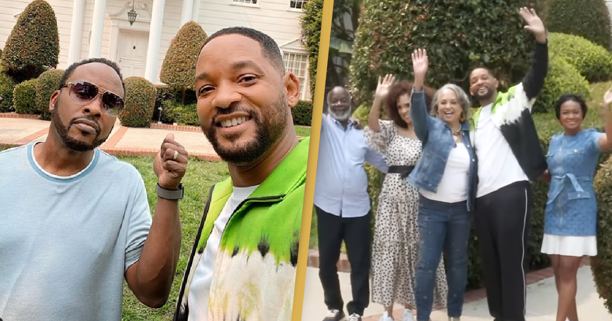 Will Smith Returns To The Fresh Prince Of Bel-Air Mansion With Original Cast