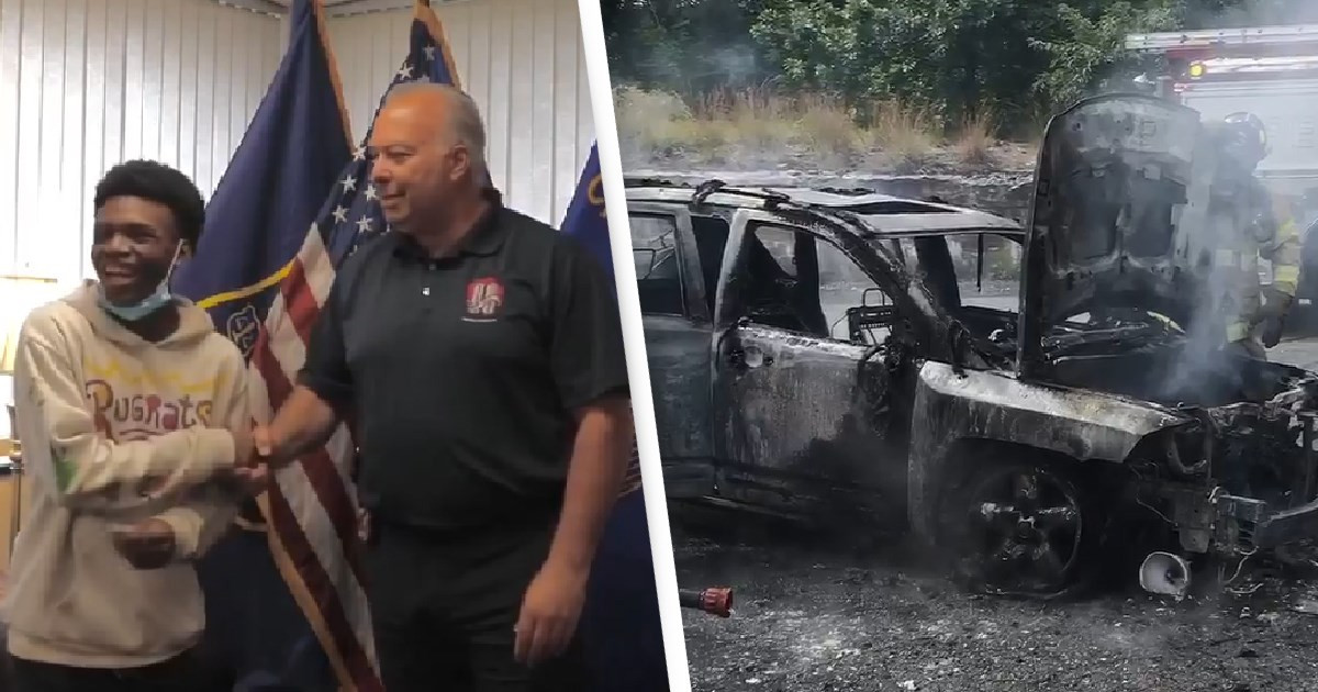 Hero Teen Saves Woman And Her Three Kids From Burning Car