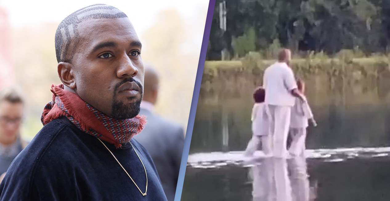 Kanye West 'Walks On Water' During Sunday Service