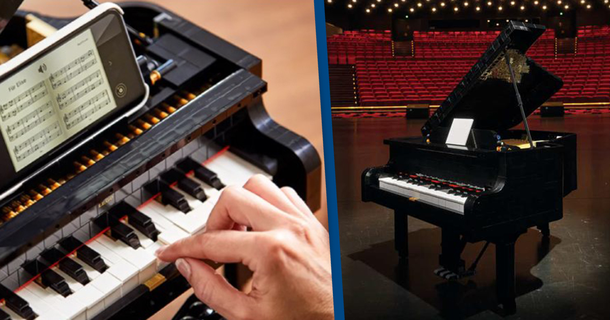 3,662-Piece Lego Grand Piano 'Most Complex And Challenging' Set Yet