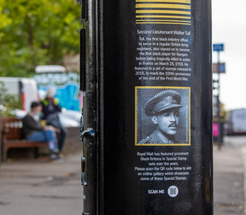 Postbox dedicated to Walter Tull