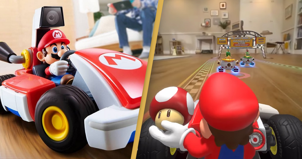new mario kart game allows you to drive around your home 1