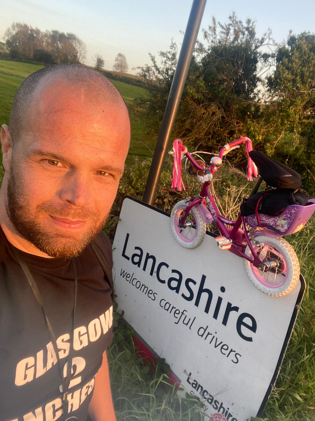Dad Cycles Over 200 Miles On Daughter's Pink Bike For Charity