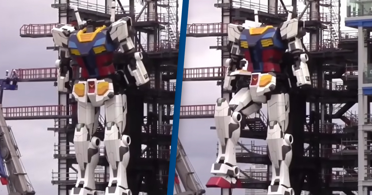 Giant 60-Foot Japanese Robot Took Its First Steps