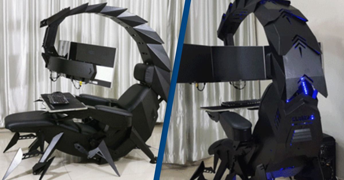 Game Like An Evil Genius In This Scorpion Gaming Chair