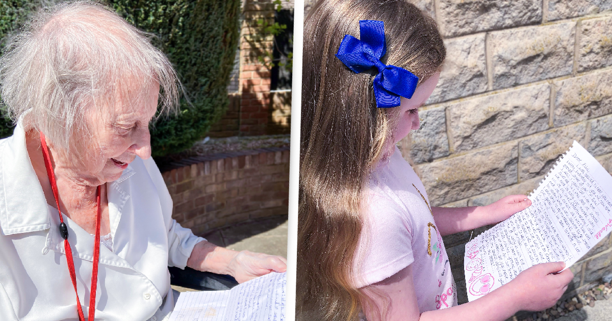 6-Year-Old Girl Begins Pen Pal Friendship With 94-Year-Old Care Home Resident