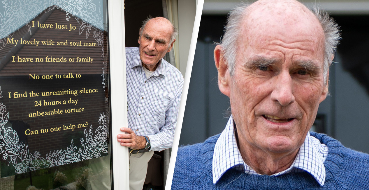 Man Puts Poster In Window Asking For Friends After Wife Dies