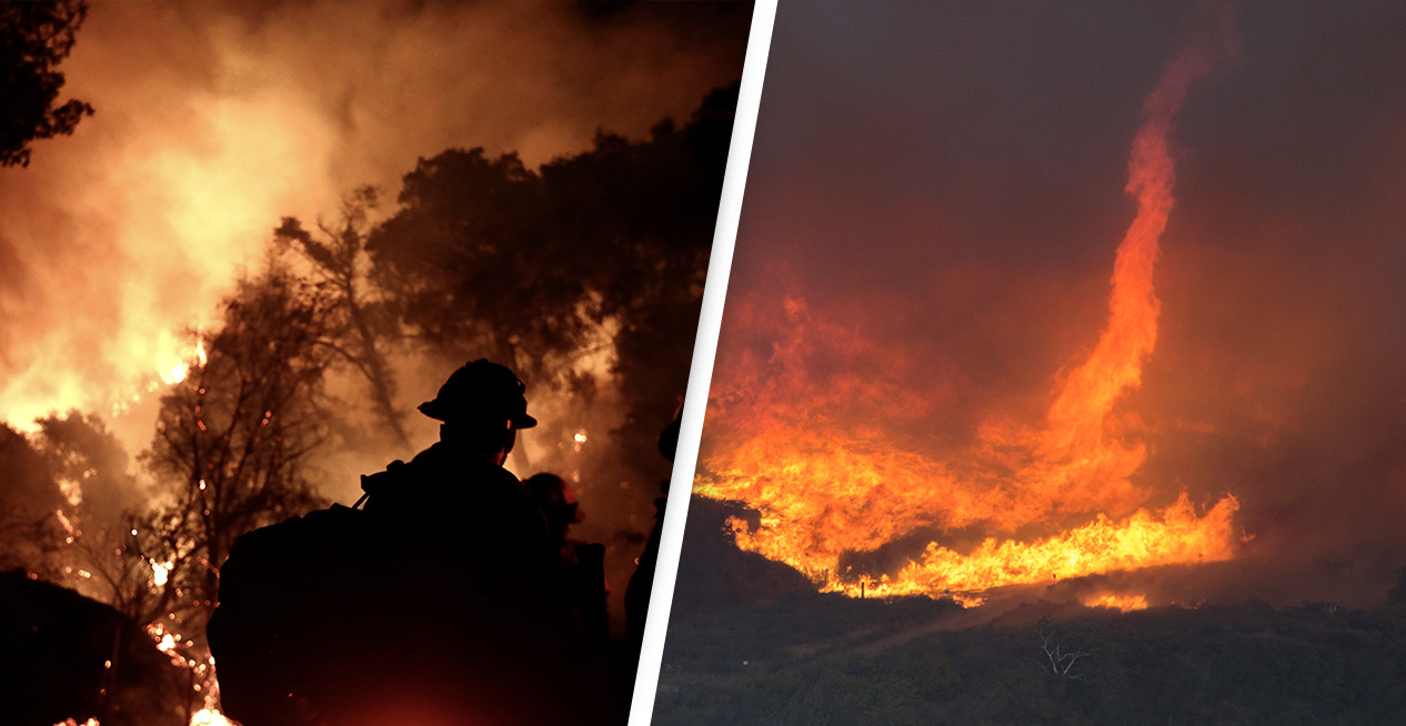 California's Largest Wildfire Spawned Two Massive Firenados