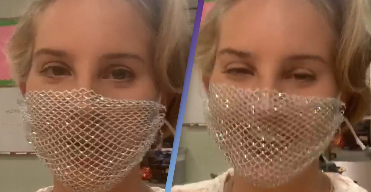 Lana Del Rey's Mesh Mask As Useful As Magic Marker On Face, Doctor Says