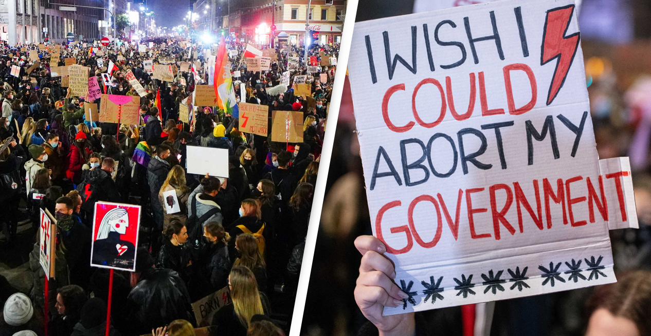Nearly 100,000 Poles Attend Pro-Choice Protest After Near-Total Ban On Abortions