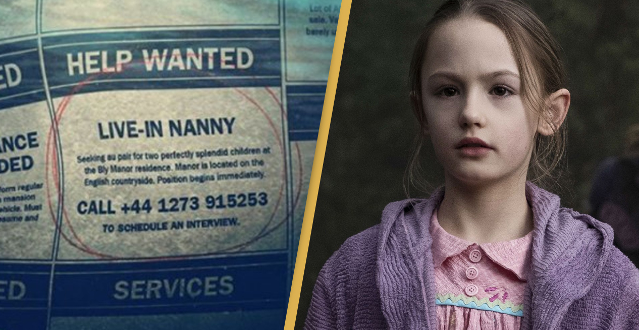 The Haunting Of Bly Manor's Flora Will Answer The Phone If You Call Nanny Ad Number