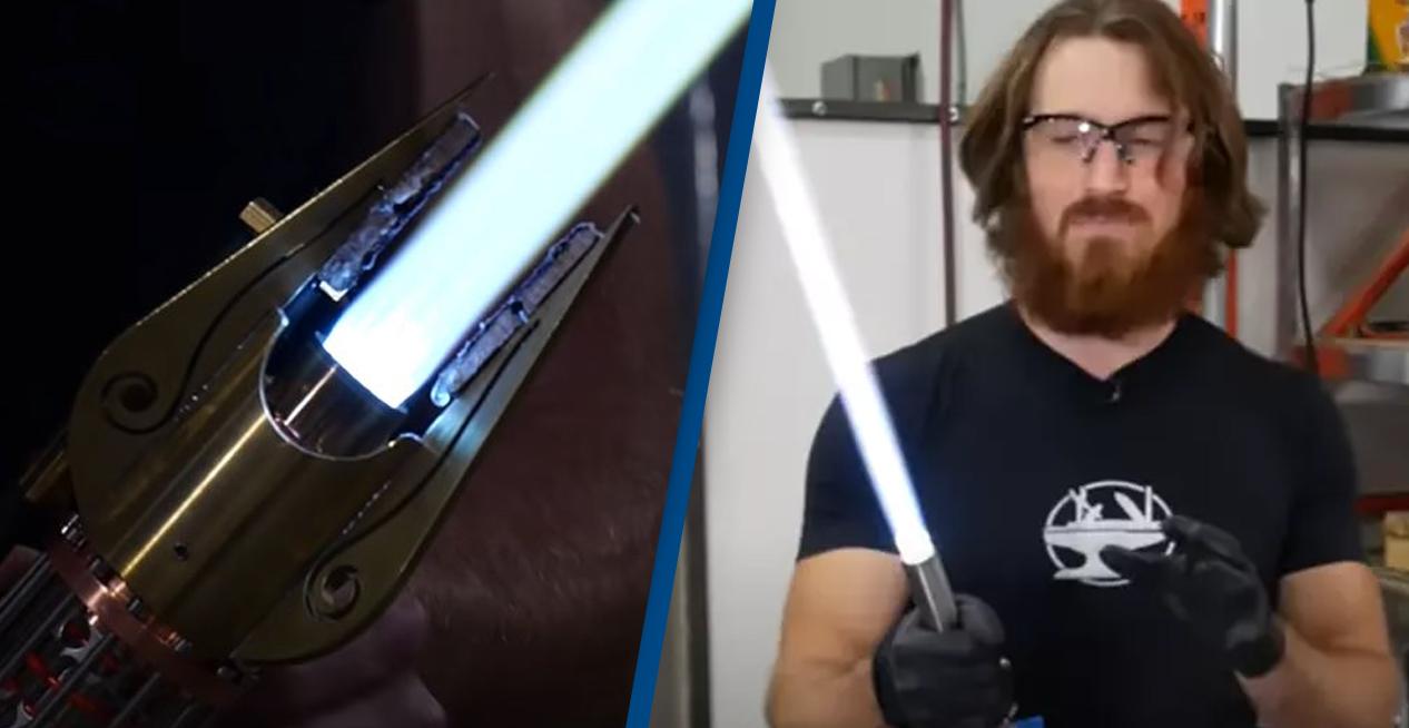World's First Retractable Light Saber Created By Engineer