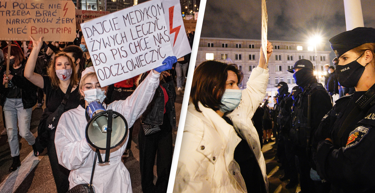 Poland's Near-Total Ban On Abortions Sparks Women's Strike
