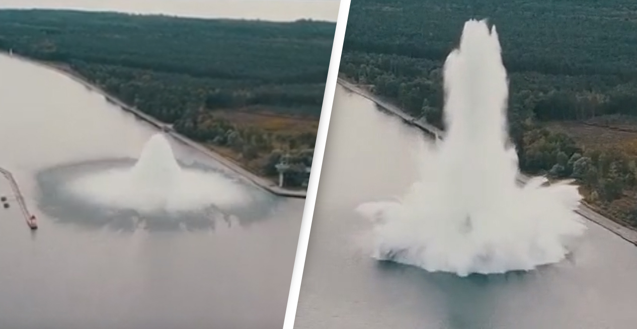Biggest Second World War Bomb Ever Explodes As Divers Try To Defuse It