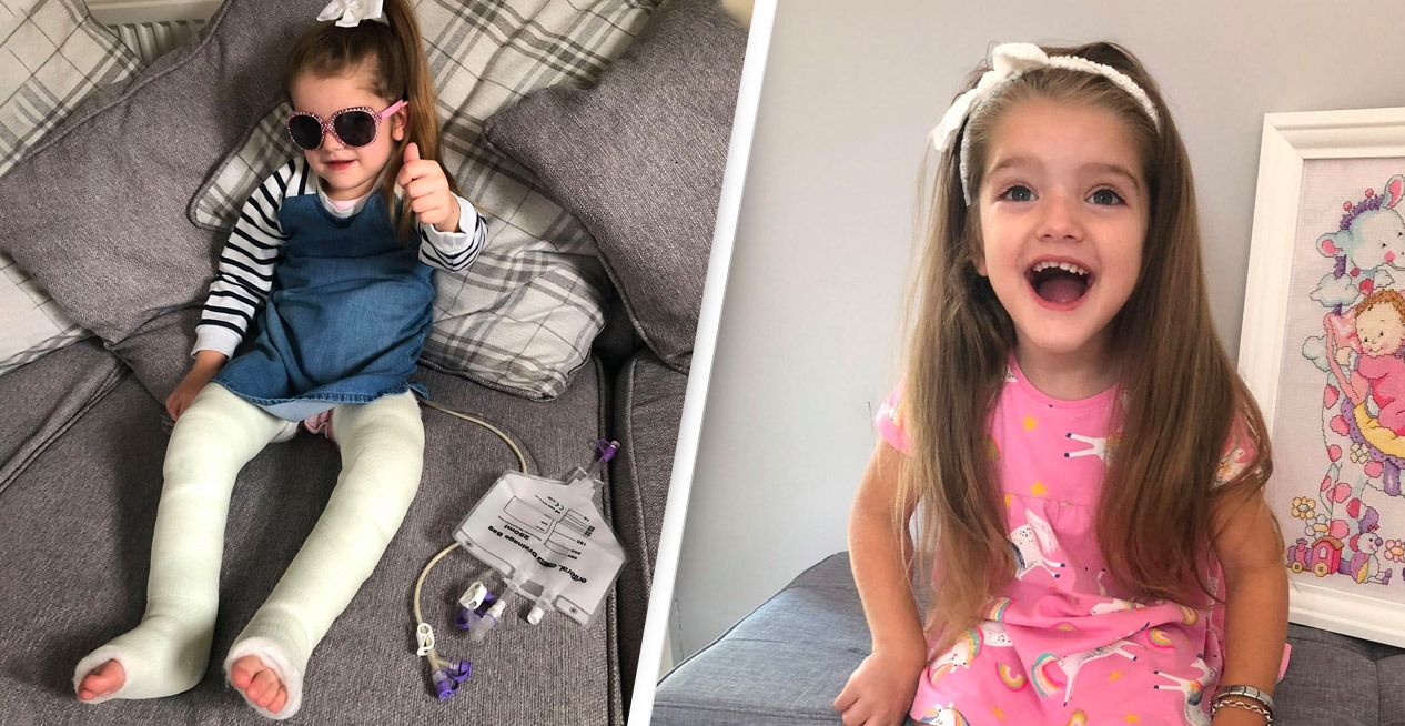 Mystery Millionaire Pays £75,000 So Girl, 4, Can Walk For First Time