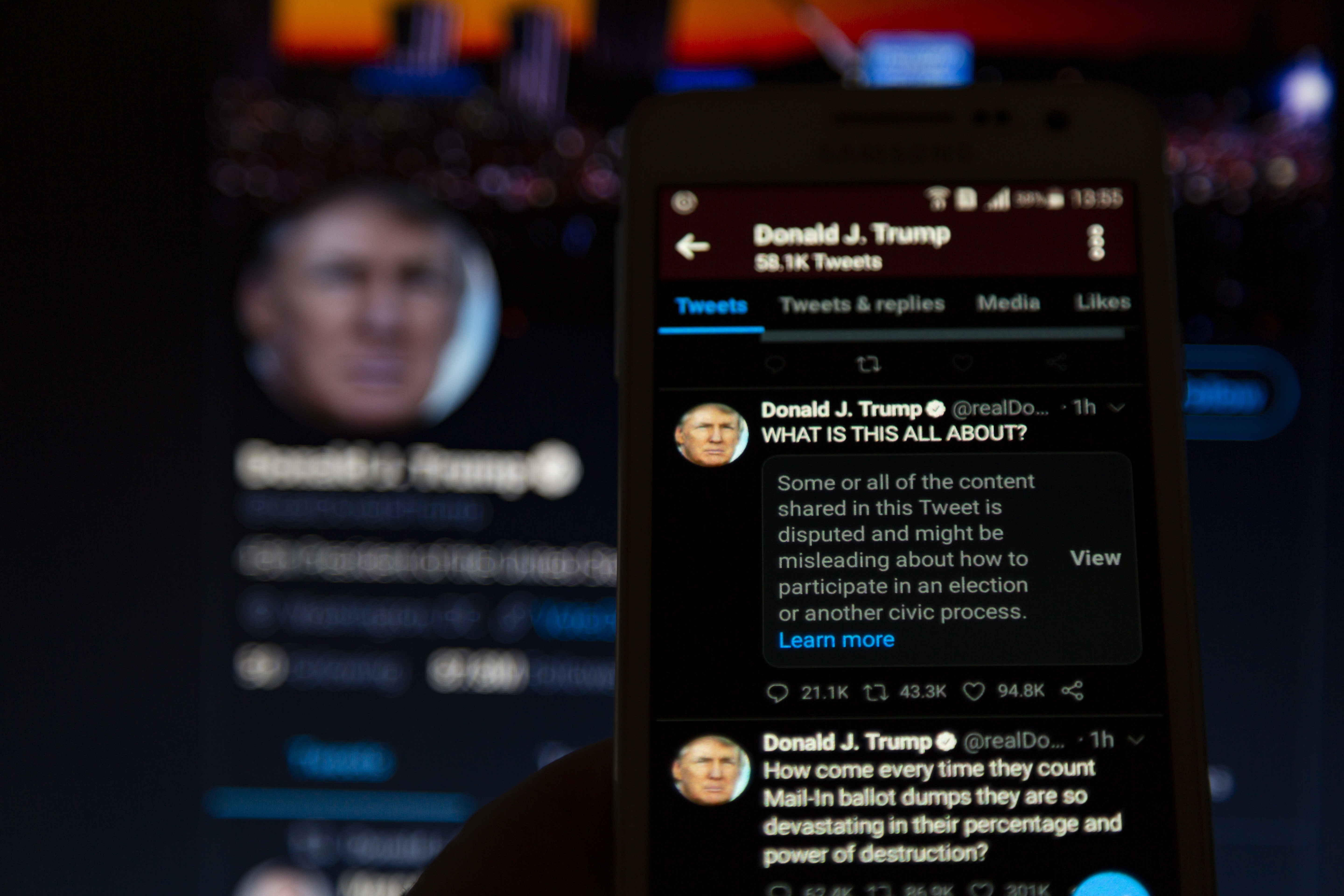 Twitter Adds a Label to Trump Post
