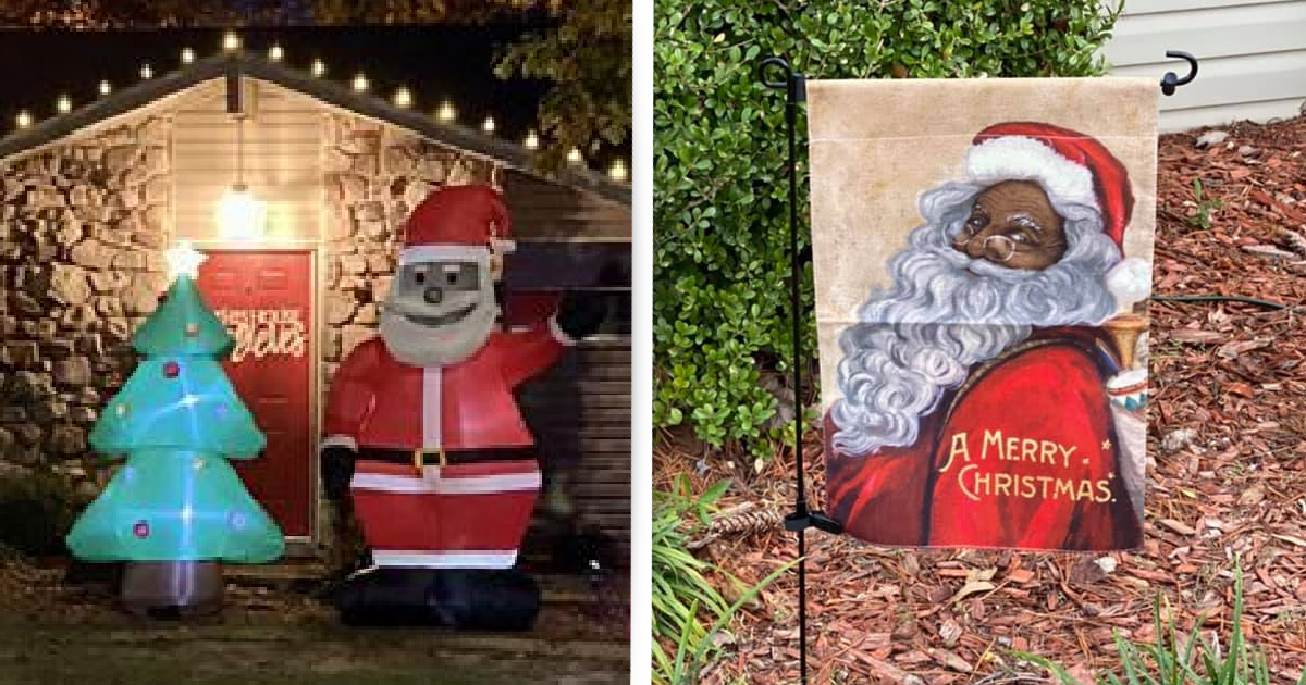 Neighbourhood 'Flooded' With Black Santas After Racist Attacks Man's Decoration