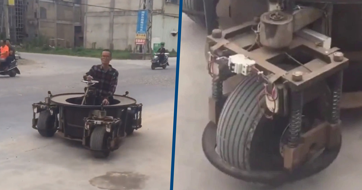 Video Shows Insane Three-Wheeled Turret Car In China