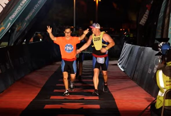 Man becomes first person with Down Syndrome to complete Ironman