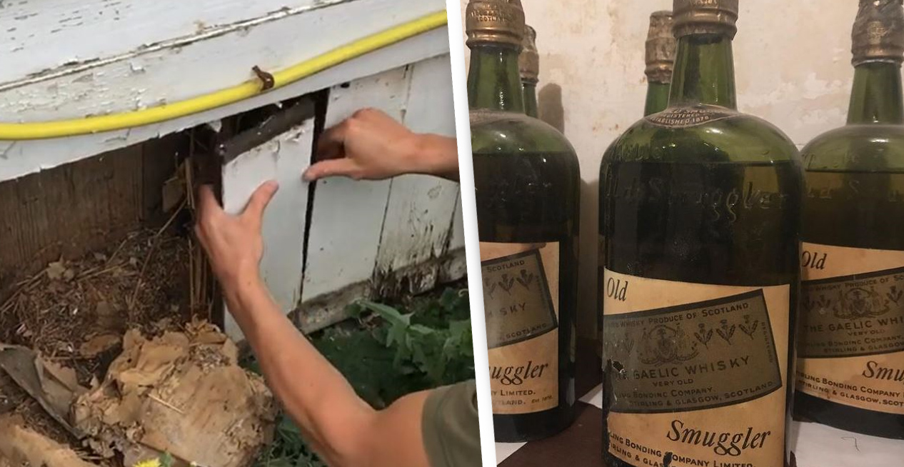 Couple Finds 66 Bottles Of Prohibition-Era Whiskey Hidden In The Walls Of Their New York Home
