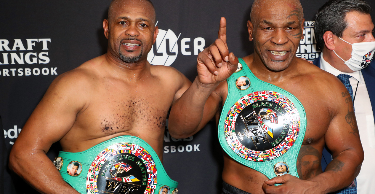 Mike Tyson And Roy Jones Jr's Historic Heavyweight Fight Ends In A Draw