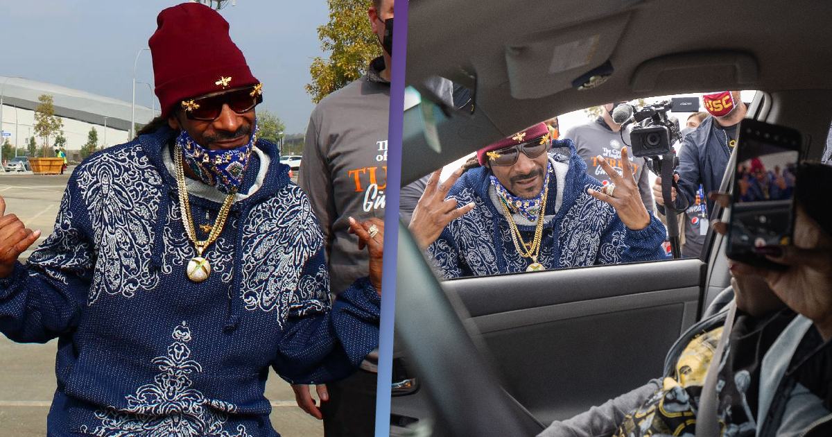 Snoop Dogg Hands Out Thanksgiving Turkey As Cars Line In Thousands
