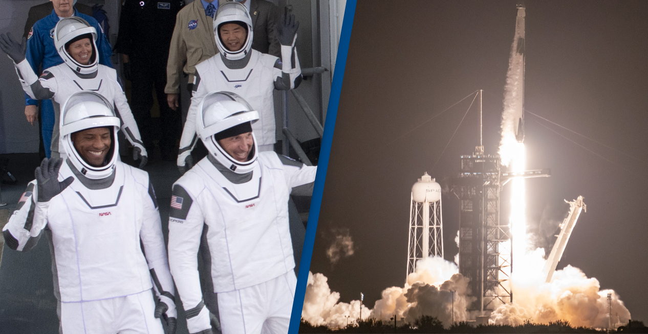 Elon Musk's SpaceX Successfully Launches Four-Person Crew To Space On First Operational Mission