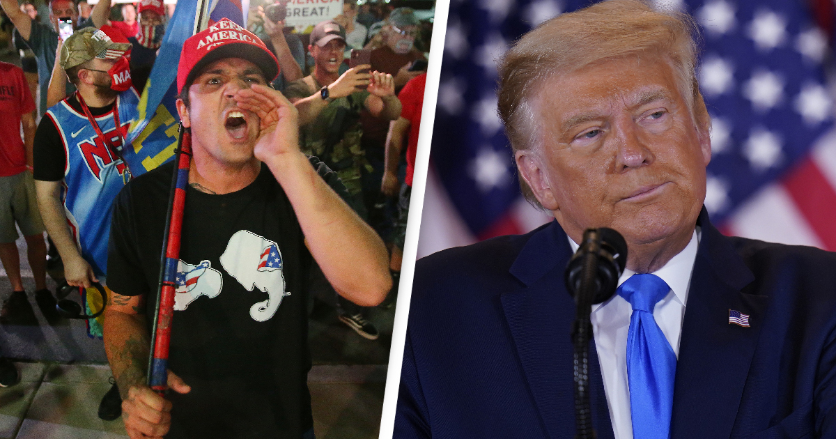 US Election 2020: Arizona Counting Centre Shuts Down As Armed Trump Supporters Protest