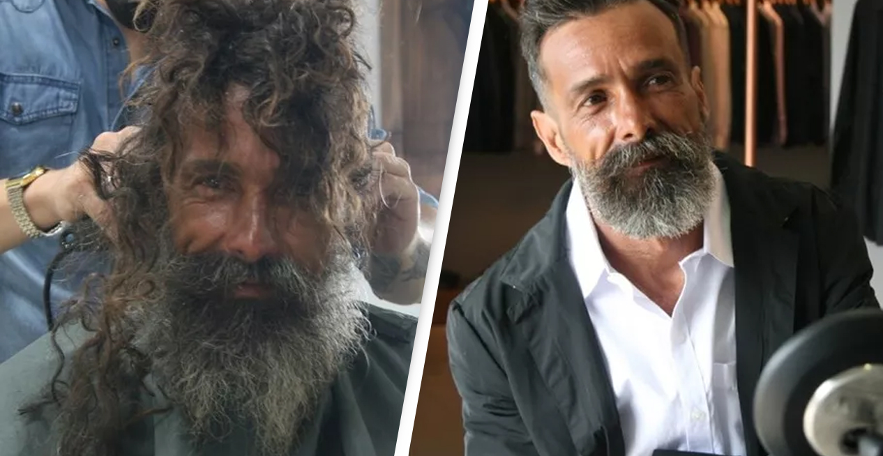 Homeless Man Who Went Viral After Getting Haircut Recognised By Family Who Thought He Was Dead